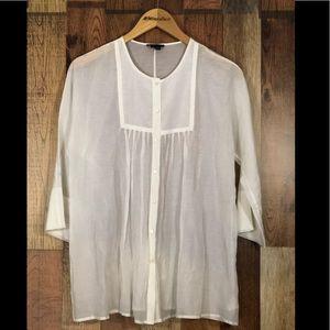 Theory silk blouse size medium
